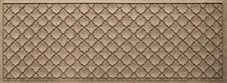 Bungalow Flooring Waterhog Indoor/Outdoor Runner Rug, 22 x 60 inches, Made in USA, Skid Resistant, Easy to Clean, Catches Water and Debris, Cordova Collection, Khaki/Camel