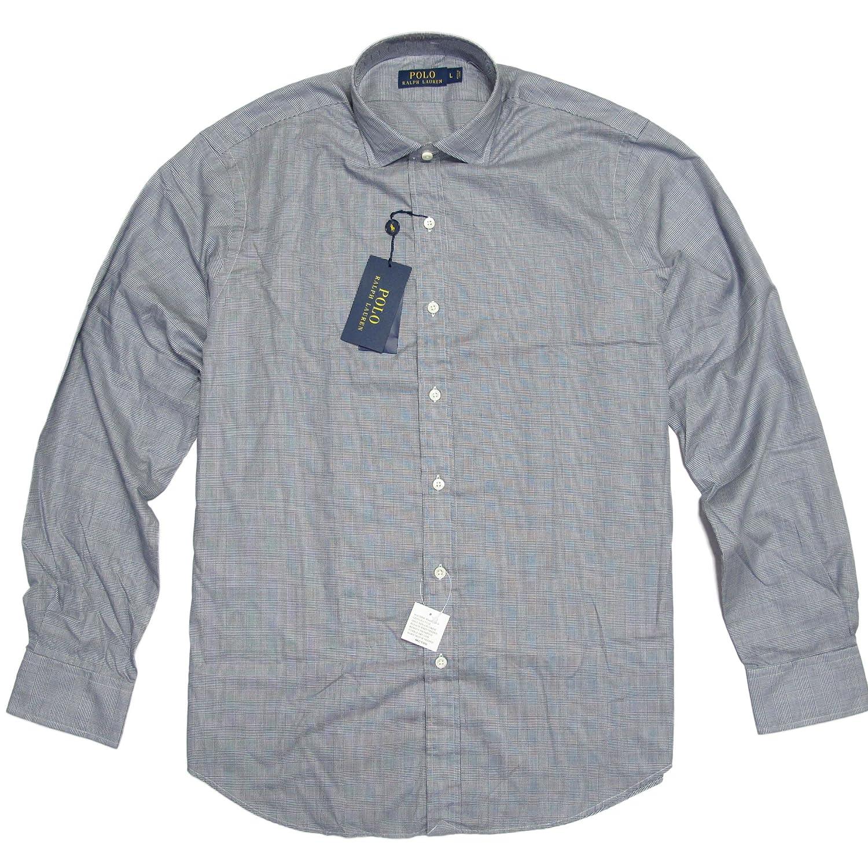 (ポロ ラルフローレン)POLO RALPH LAUREN 長袖シャツ Glen Plaid Estate Sport Shirt ネイビー/ホワイト Navy/White 【並行輸入品】