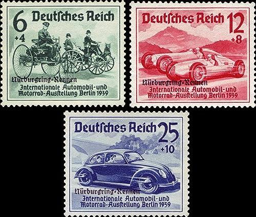 Briefmarken Deutsches Reich 1939, Mi.Nr. 695-697, Internationales Eifel-Rennen, Postfrisch