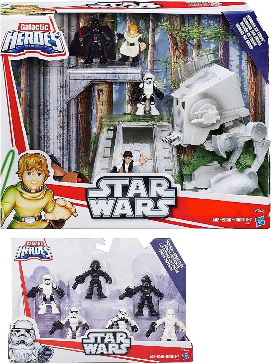 Star Wars Galactic Heroes Mission on Endor & Galactic Heroes Imperial Forces Pack