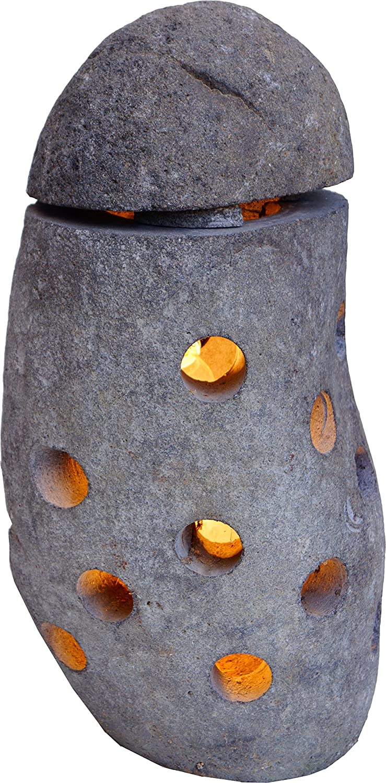 Guru-Shop Flußstein Lampe 2, 52x30x25 cm, Outdoorlights Gartenleuchten B00EDEVAQ2   | Sonderpreis