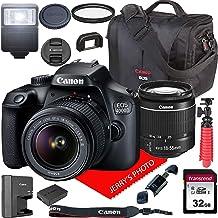 $294 » Canon EOS 4000D / Rebel T100 DSLR Camera w/Canon EF-S 18-55mm F/3.5-5.6 III Zoom Lens + Canon Case + 32GB SD Card (15pc Bundle)