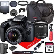 $339 » Canon EOS 4000D / Rebel T100 DSLR Camera w/Canon EF-S 18-55mm F/3.5-5.6 III Zoom Lens + Canon Case + 32GB SD Card (15pc Bundle)