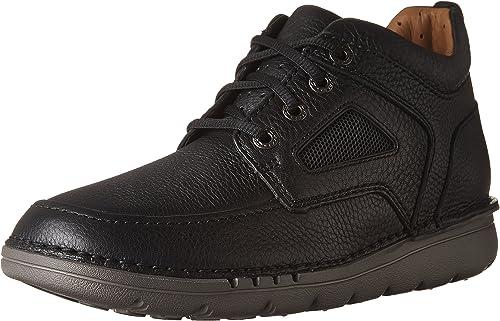 Clarks Mens Un Nature Mid Stiefel schwarz Leather Größe 9.5