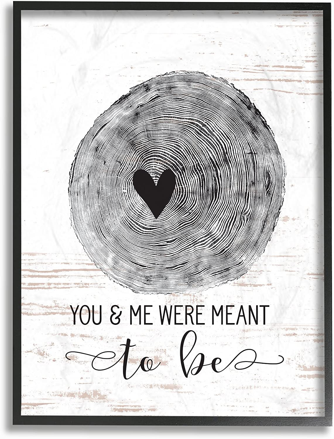 Stupell Industries rwp-127_fr_11x14 Home Decor Collection You and Me were Meant to Be Framed Giclee Texturized Art, Multicolor