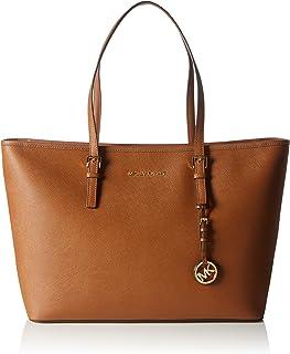 b878d815e68 Michael Kors Women s Jet Set Travel Saffiano Leather Top Zip Leather  Shoulder Tote