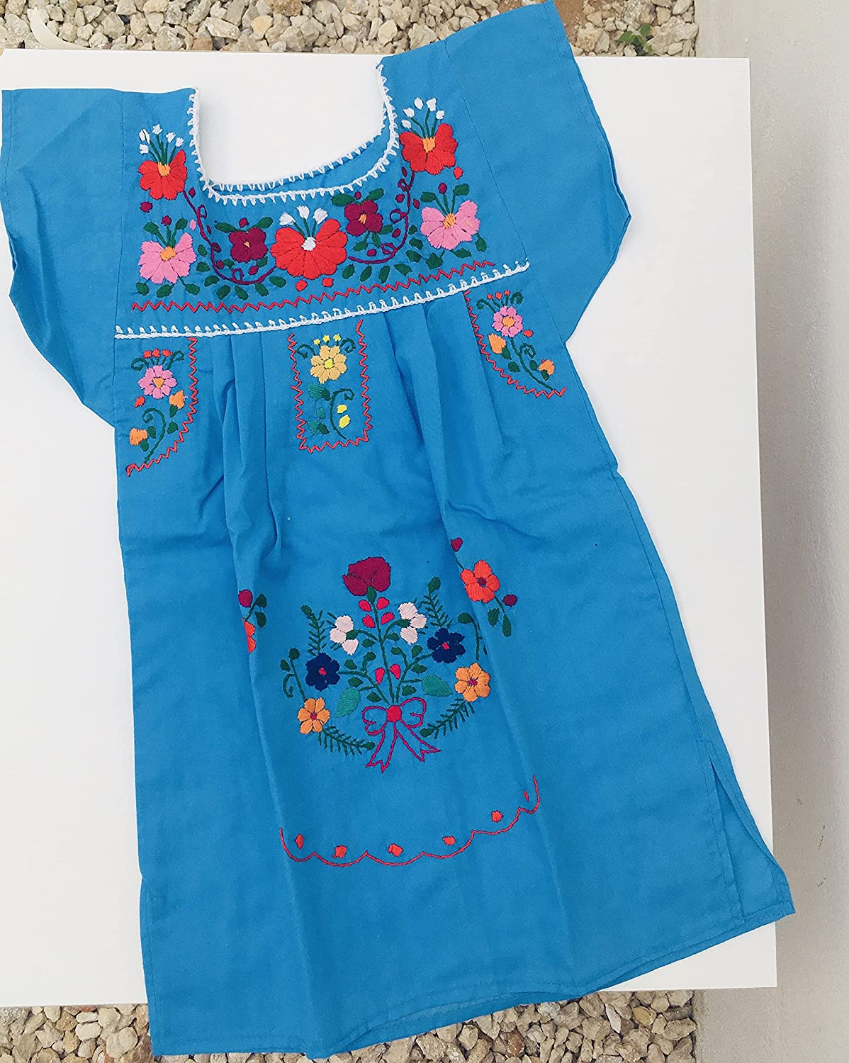 Max 71% OFF Mexican Embroidered Dress for girl or de vestido Super beauty product restock quality top basket- -