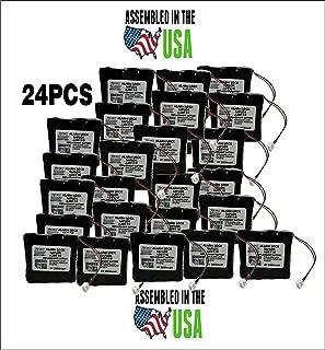 24PCS Replacement SAFLOK A28110 6V Hotel Door Lock Battery Fits 884952, A28110, A28100, DL-12/4, HTL-11/13, Intellis, MT