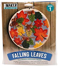Mini Maker Falling Leaves Kit: 15 Piece Organza Embroidery Project (kit, Embroidery, DIY, Organza, Fall, Autumn, Hoop, Mini Maker)