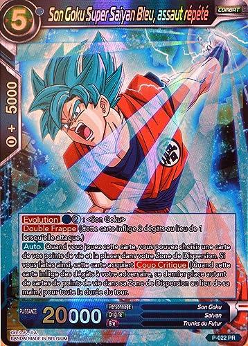 Dragon Ball Super voiturete P-022-PR Son Goku Super Sayan Bleu. assaut répété