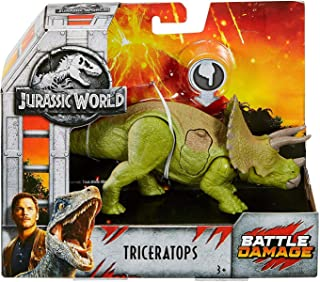 Triceratops Dinosaur Jurassic World Fallen Kingdom Posable Battle Damaged Figure 6