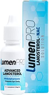 LumenPro Pet Eye Drops | Promotes Vision Clarity in Animals with Cataracts | Scientifically Formulated Lanosterol and N-Acetylcarnosine (NAC) Combination