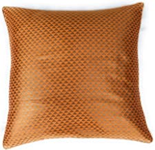 Craftbot Decorative Indian Sofa Pillow Covers in Orange and Gold Brocade - 18x18 Inch - 1 Piece - NO Insert Included