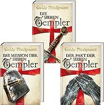 Guido Dieckmann   Uppsättning av 3 Templer-Saga som Hardcover   De sju templarna + pakten med de sju templarna + uppdraget...