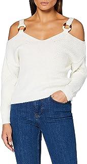 MISS SELFRIDGE Cream O Ring Cold Shoulder Jumper Suéter para Mujer