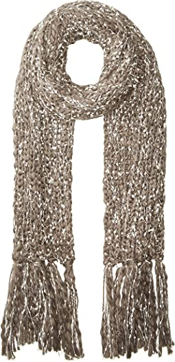 BSS3656 Chunky Knit Scarf with Fringe