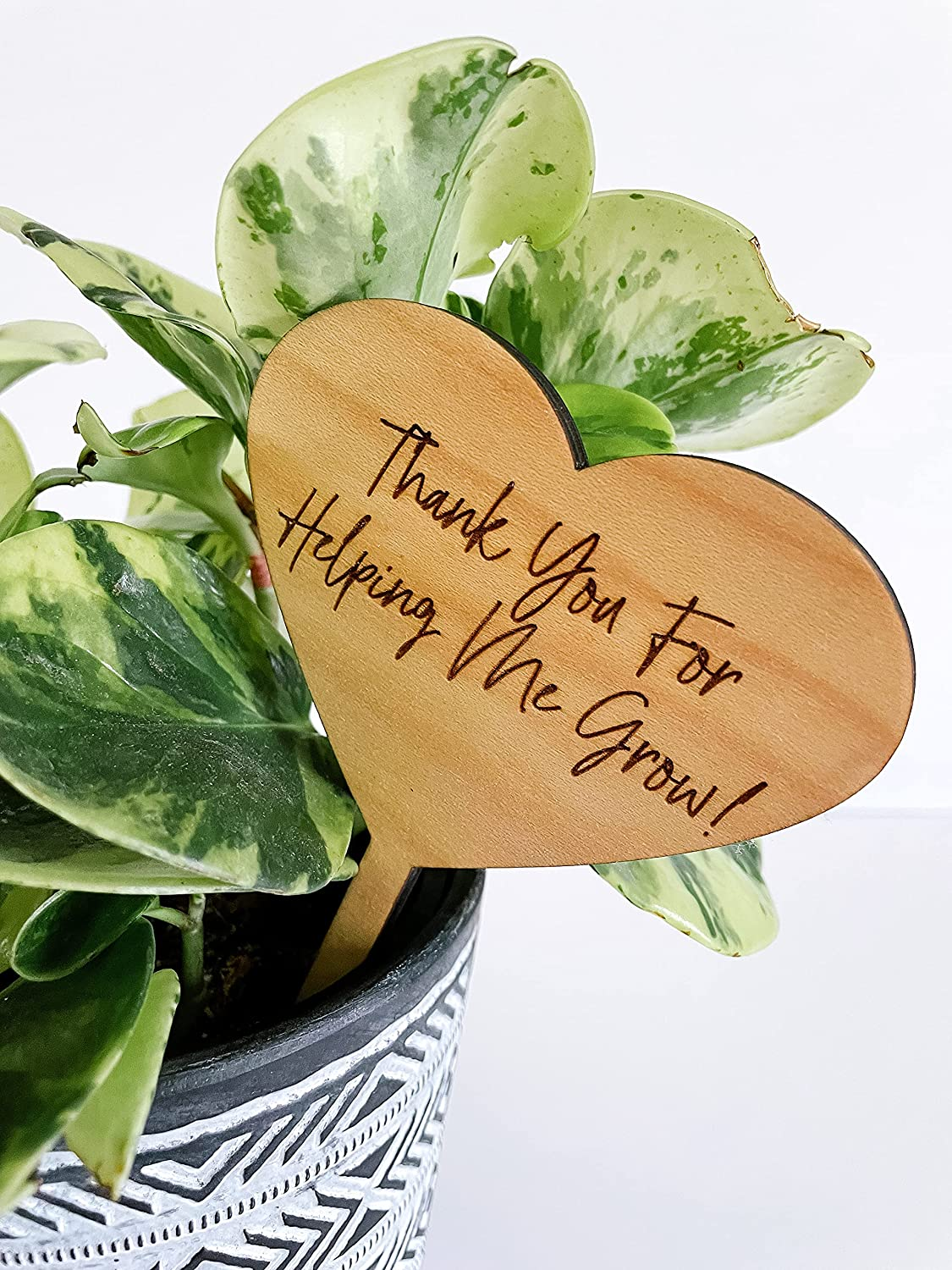 Thank You For Helping Gifts Import Me Teacher Grow Wood Appreciation Engraved