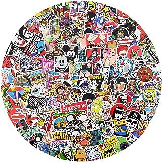 Vinyl Stickers 400 pcs Laptop Computer PC Water Bottle Car Helmet Skateboard Luggage Bike Bumper Waterproof Graffiti Decals,Gift for Kids, Adult- No-Duplicate Pack