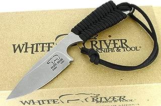 White River Knife & Tool Backpacker Hunting Knife Black Paracord Handle WRBP-BL