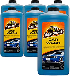 Armor All Foam Action Car Wash - For Cars & Truck & Motorcycle, 24 Fl Oz Bottles - Pack of 6, 25024