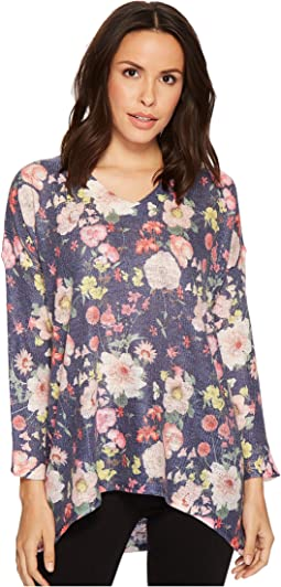 Nally & Millie - Floral V-Neck Top