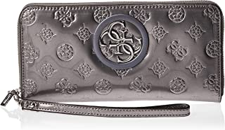 GUESS Women's Open Road Slg Large Zip Around, Pewter - PY718646