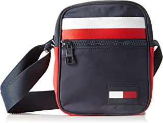 Tommy Hilfiger Men's Signature Tape Small Reporter Bag Signature Tape Small Reporter Bag, Corporate, One Size