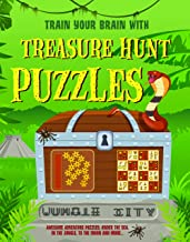 Treasure Hunt Puzzles: Engage your brain to work through these awesome adventure puzzles, under the Sea, to the Moon and m...