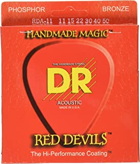 DR Strings Red Devils - Red Coated Acoustic11-50