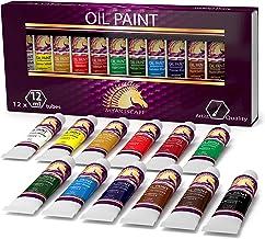 Oil Paint Set - 12ml x 12 Tubes - Artists Quality Art Paints - Oil-Based Color - Professional Painting Supplies - MyArtscape