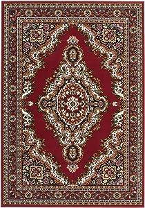 Lalee - Tappeto Sahara, 100% Polipropilene, Red, 120 x 170