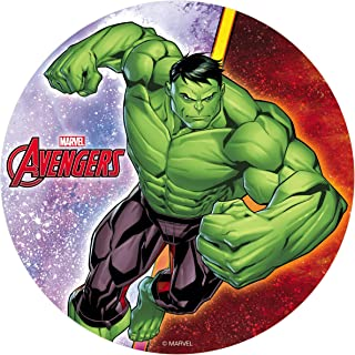 comprar comparacion Decoración Tartas de Cumpleaños Infantiles en Disco de Oblea Comestible - Personaje Avengers Hulk - 20 cm