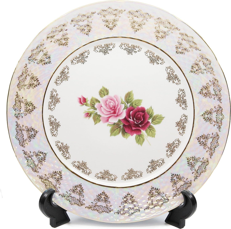 Royalty Popular Porcelain Set of 6 Fashion Floral Dinner Plates Vintage Pattern