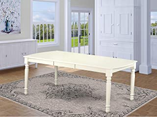 East West Furniture Dover Dining Room Table with 18