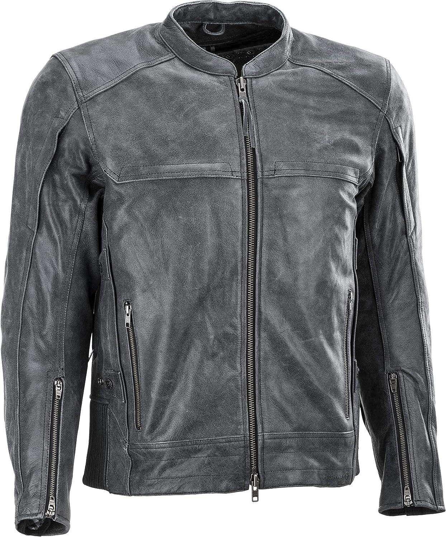 特売 HIGHWAY 21 Gunner Jacket Leather Gear 爆安 Motorcycle Zippered with