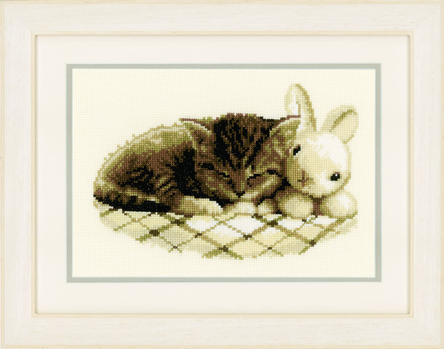 Vervaco Counted Cross Stitch Kit: Sleeping Kitten