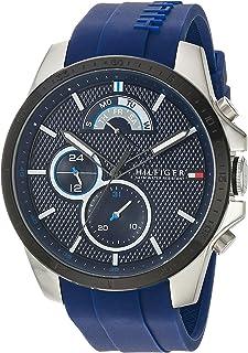 """Tommy Hilfiger""""Deporte Cool Acero Inoxidable y Silicona Reloj Casual De Cuarzo De Los Hombres, color: azul (Modelo: 1791350)"""