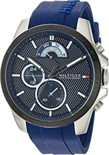 Tommy Hilfiger Men's 'COOL SPORT' Quartz Stainless Steel and Silicone Casual Watch, Color:Blue (Model: 1791350)