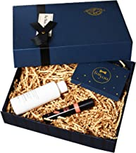 Navy Blue 8x6x3 Groomsmen Proposal Box with Crinkle Paper Shred Fill, Luxury Bag and Greeting Card