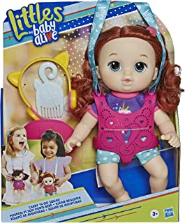 Baby Alive Littles, Carry 'N Go Squad, Little Zoe, Red Curly Hair Doll, Carrier, Accessories, Toy for Kids Ages 3 Years & Up