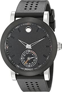 Movado Men's 0660003 Analog Display Swiss Quartz Black Smartwatch