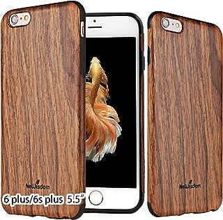 NeWisdom iPhone 6s Plus 6 Plus case Wood Non Slip Thin Slim Unique Designed Cover - Sandal