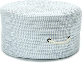 Colonial Mills Ticking Fabric Stripe Pouf TX50 Ottoman