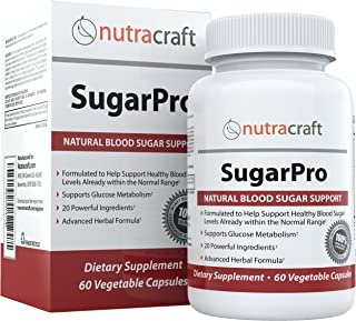 #1 Blood Sugar & Glucose Metabolism Supplement with Vanadium, Chromium, Gymnema Extract, White Mulberry, Al...