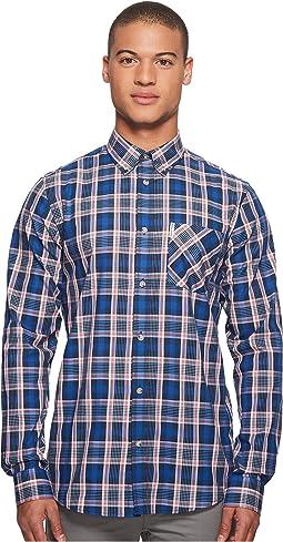 Ben Sherman - Long Sleeve Crepe Texture Check Shirt