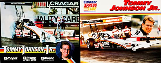 1992/1993 - NHRA / Winston Drag Racing - 2 Hero Cards - Tommy Johnson Jr - Mopar / Mopar XPress Lube - Top Fuel Dragster - Measures 8x10 Inches - Out of Print - Like New - Rare - Collectible