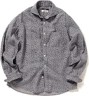 [シップス] フラワープリント セミワイドカラー ネルシャツ メンズ 111140537