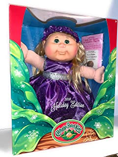 Cabbage Patch Doll - 2018 Holiday Edition - Blonde Hair Green Eyes, Purple Dress, 14