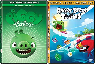 Piggy Tales & Angry Birds Toons Season Three Animated DVD Set Cartoon + Bonus Episodes Minion Pig Set
