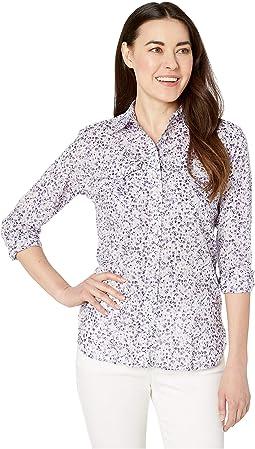 9fdd2371 LAUREN Ralph Lauren. Petite Striped Linen Shirt. $89.50. New. Silk White  Multi